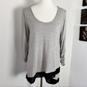 Chelsea & Theodore Contrast Tunic in Grey M